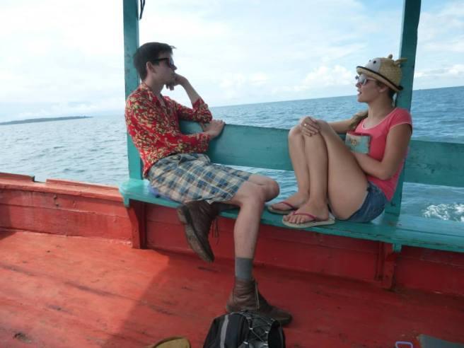 On the boat to Koh Rong Samloem, Cambodia. 2014