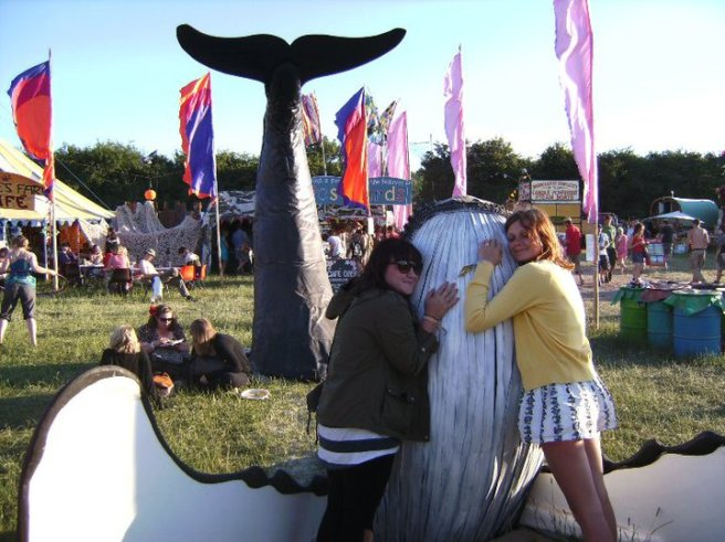The year I saw Muse (and hugged a whale). Glastonbury, 2010.