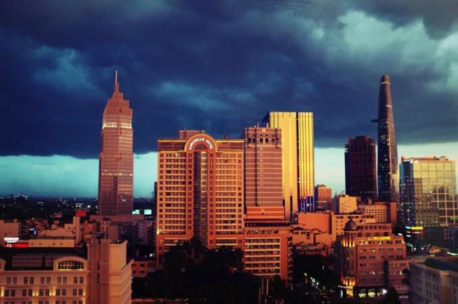Storm over Saigon, July 2015. (Photo from saigoneer.com).